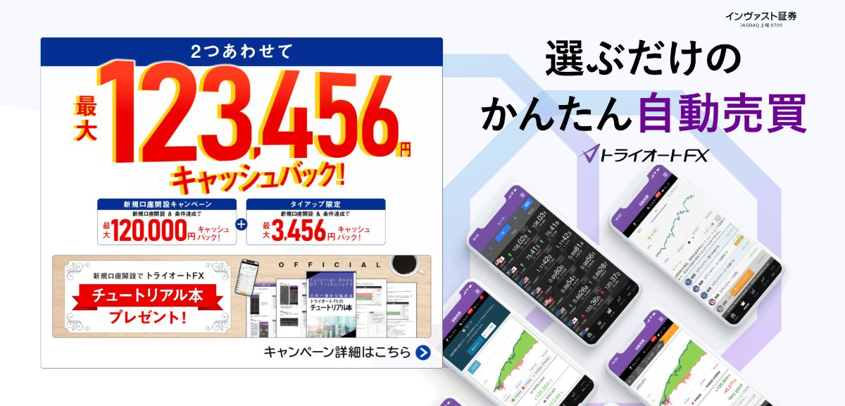トライオートFX限定キャンペーン
