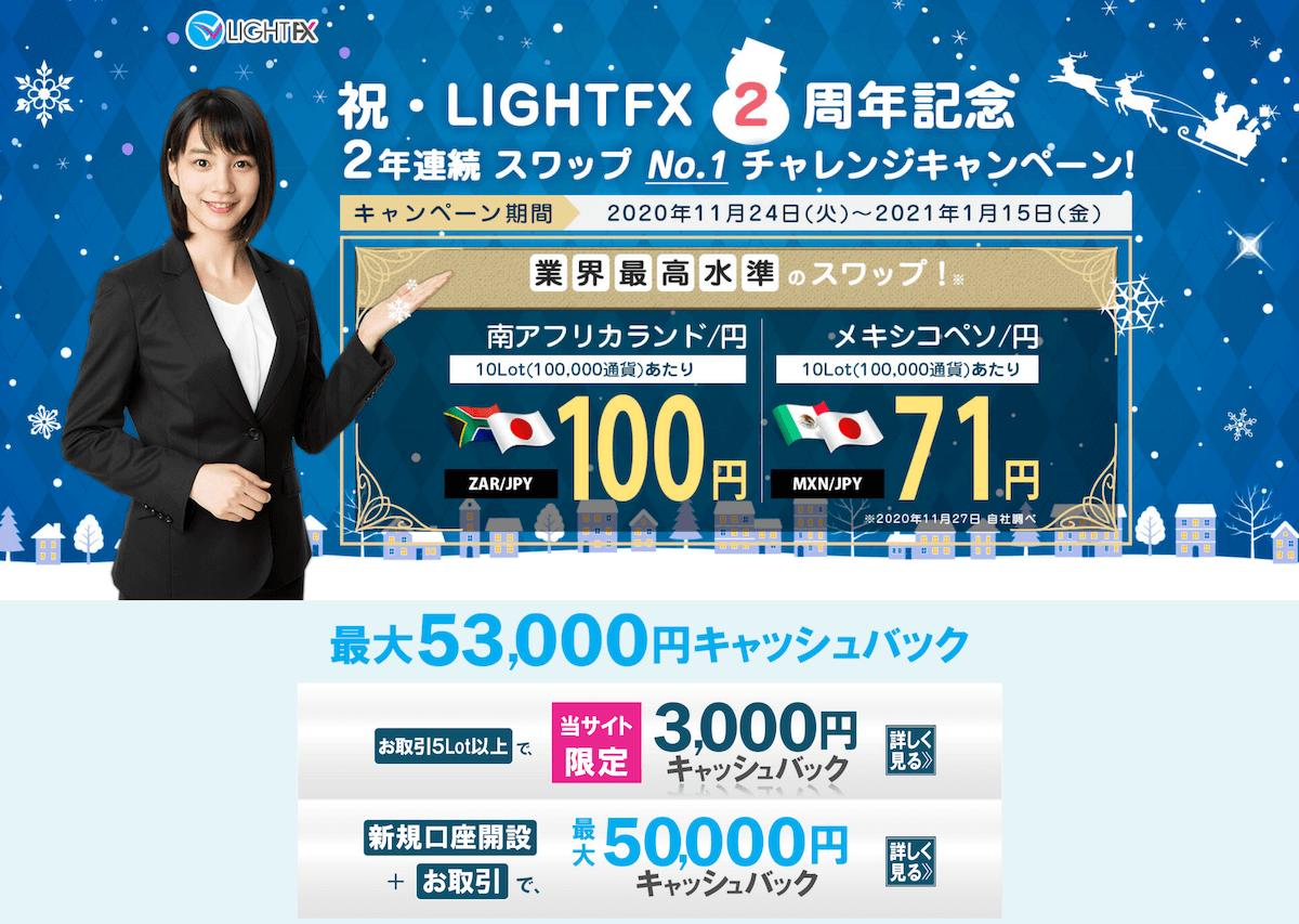 LIGHT FXのキャンペーン
