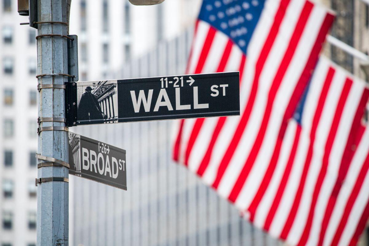 ウォール街の看板